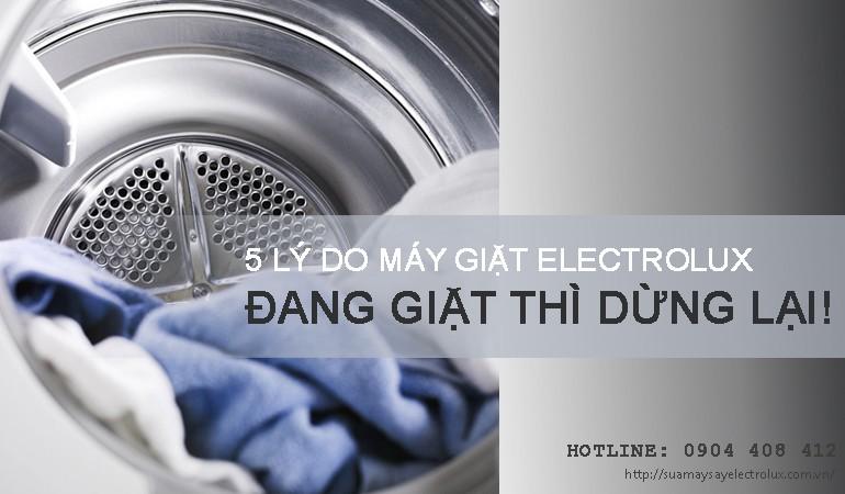 Máy giặt Electrolux đang giặt thì dừng lại
