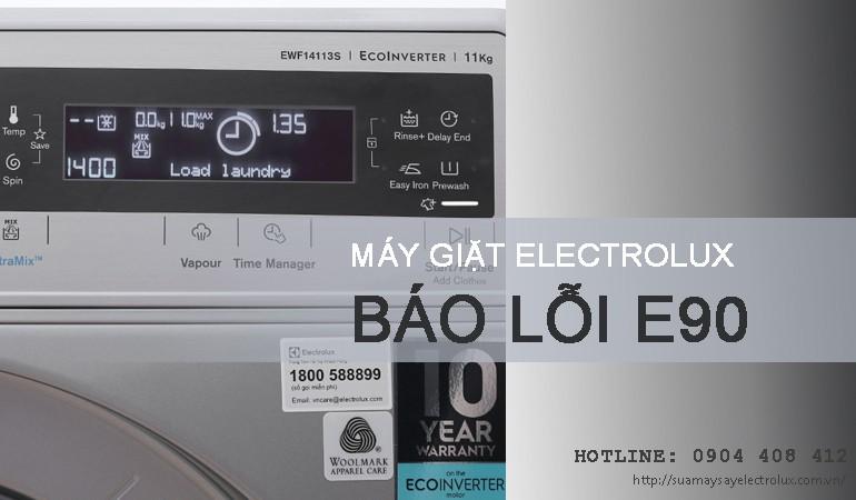 Máy giặt Electrolux báo lỗi E90