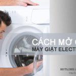 Cách mở cửa máy giặt Electrolux để KHÔNG BỊ gãy tay nắm cửa