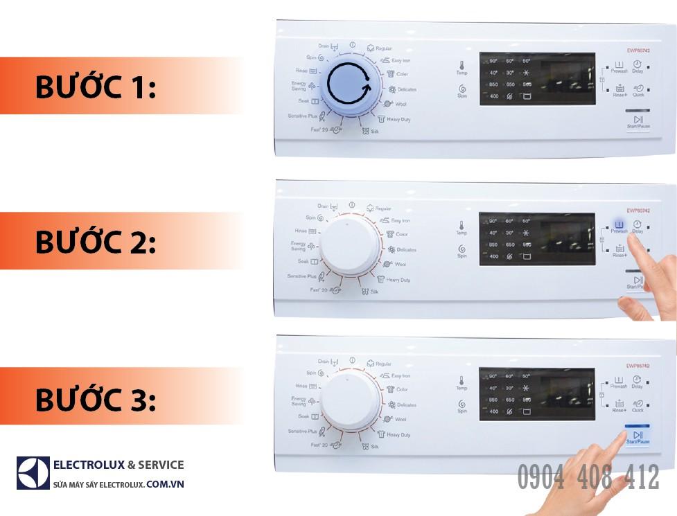 Cách sử dụng chế độ giặt ngâm của máy giặt Electrolux